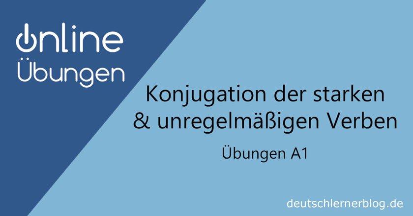 Verben konjugieren - Konjugation Übungen -