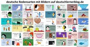 Redensarten mit Bildern - Redewendungen mit Bildern - deutsche Redensarten - deutsche Redewendungen