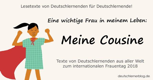 Meine Cousine - internationaler Frauentag - Weltfrauentag - eine wichtige Frau in meinem Leben