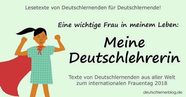 meine Deutschlehrerin - internationaler Frauentag - Weltfrauentag - eine wichtige Frau in meinem Leben