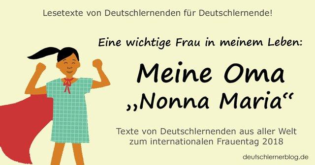meine Oma - internationaler Frauentag - Weltfrauentag - eine wichtige Frau in meinem Leben