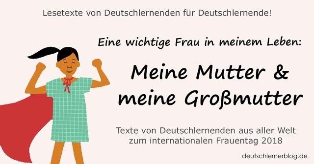 Mutter und Großmutter - internationaler Frauentag - Weltfrauentag