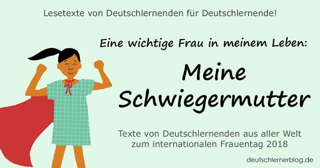 Meine Schwiegermutter - internationaler Frauentag - Weltfrauentag - eine wichtige Frau in meinem Leben