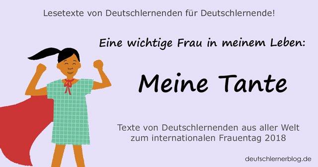meine Tante - internationaler Frauentag - Weltfrauentag - eine wichtige Frau in meinem Leben
