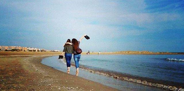 meine Freundin - am Strand