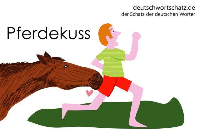 besondere Wörter - Pferdekuss