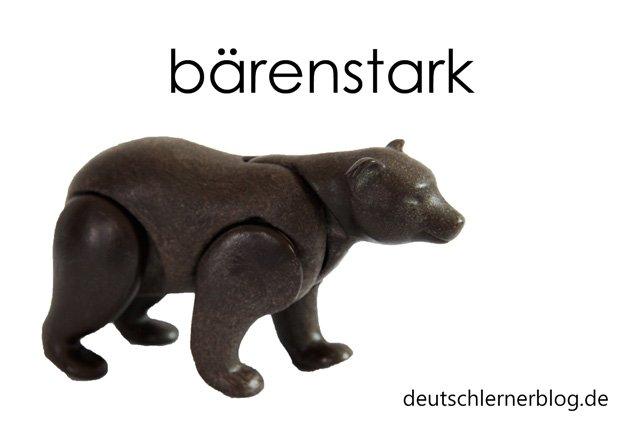 zusammengesetzte Adjektive - bärenstark