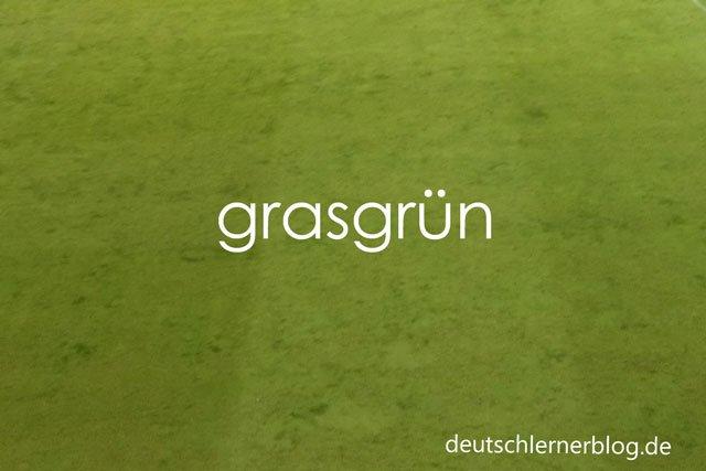 grasgrün - zusammengesetzte Adjektive