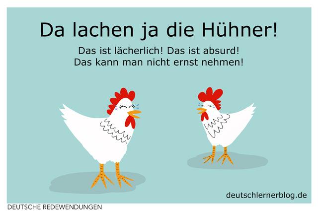 Da lachen ja die Hühner