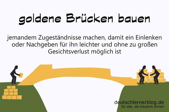 goldene Brücken bauen