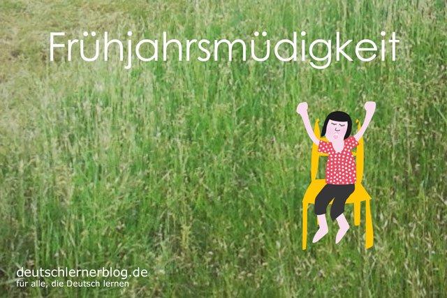 Frühjahrsmüdigkeit - deutsche Krankheiten und Leiden