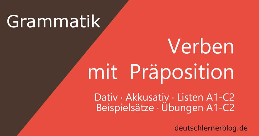 Verben mit Präposition - Pronominaladverb