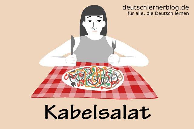 Kabelsalat - deutsches Essen - deutsche Rezepte - deutsche Speisen