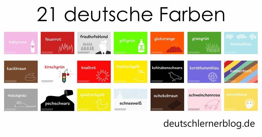 deutsche Farben - 21 schöne Farben auf Deutsch