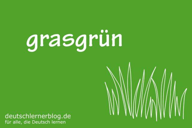 grasgrün - deutsche Farben - schöne Farben auf Deutsch