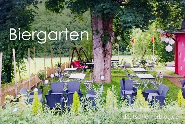 Biergarten - Wörter Deutsch - deutsche Wörter