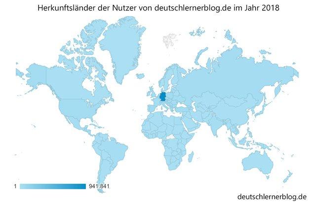 Herkunftsländer - Blogstatistik