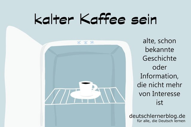 kalter Kaffee sein