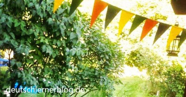 Feiern Feste und Einladungen - jemanden einladen - Party - Gartenfest