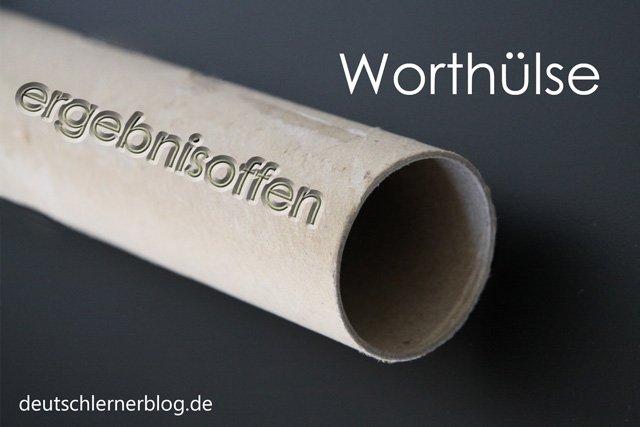 Worthülse - Wortschatz lernen - Vokabeln lernen - Deutsch lernen - mit Bildern lernen