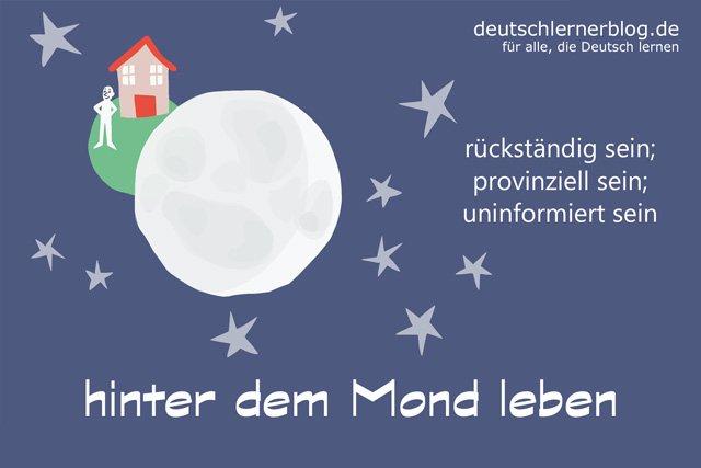 hinter dem Mond leben - Redewendungen - Illustrationen - Delia Tello
