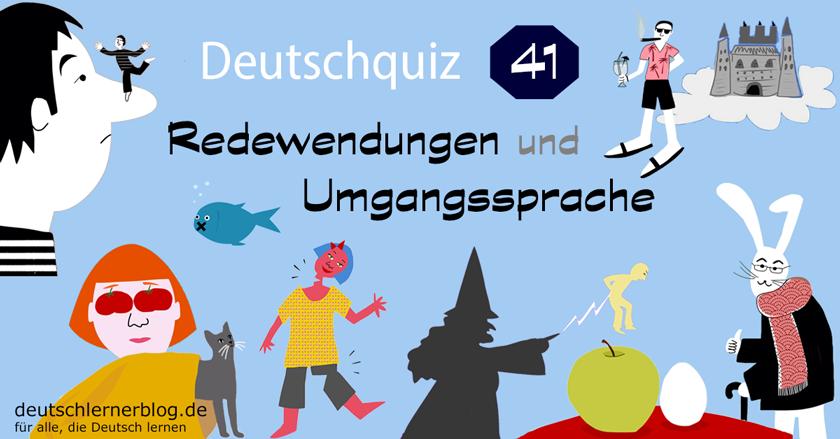 Deutsche Redewendungen-Quiz