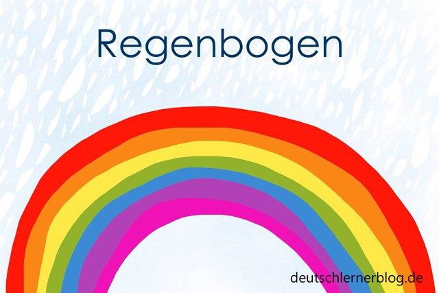 Regenbogen | schöne Wörter mit Bildern | Wortschatz lernen