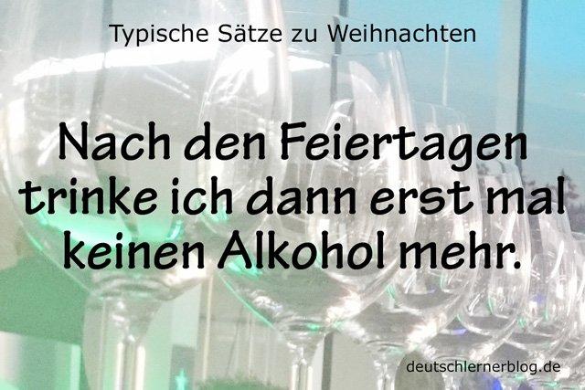 weniger Alkohol - kein Alkohol