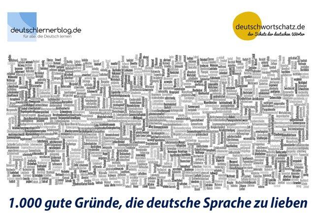 Poster - deutsche Wörter - schöne Wörter