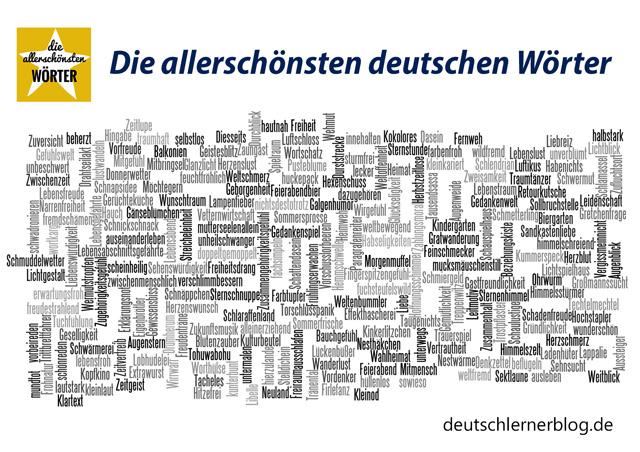 Postkarte - Poster - die allerschönsten deutschen Wörter - die schönsten deutschen Wörter