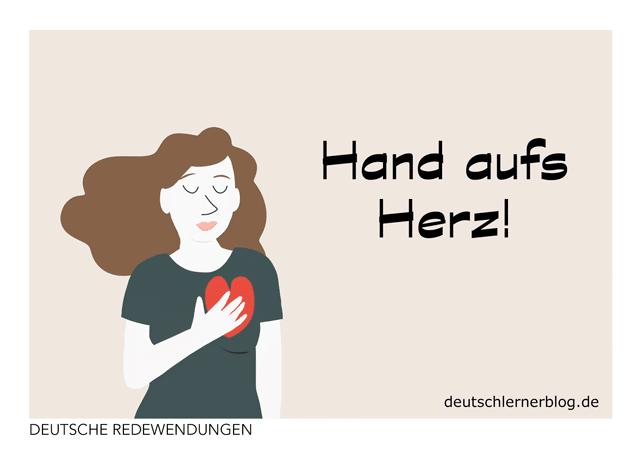 Postkarte - Hand aufs Herz