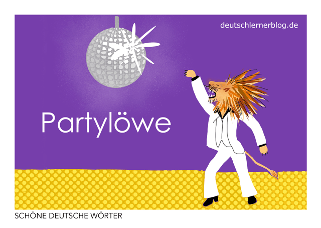 Partylöwe - Postkarte kostenlos - kostenlose Postkarte