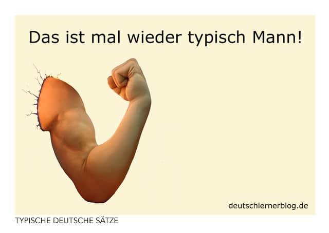 typisch Mann - Postkarte