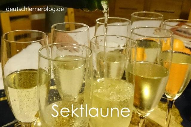 Sektlaune - schöne deutsche Wörter mit Bildern