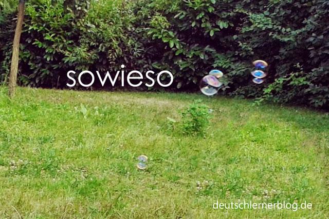 schöne deutsche Wörter mit Bildern - sowieso