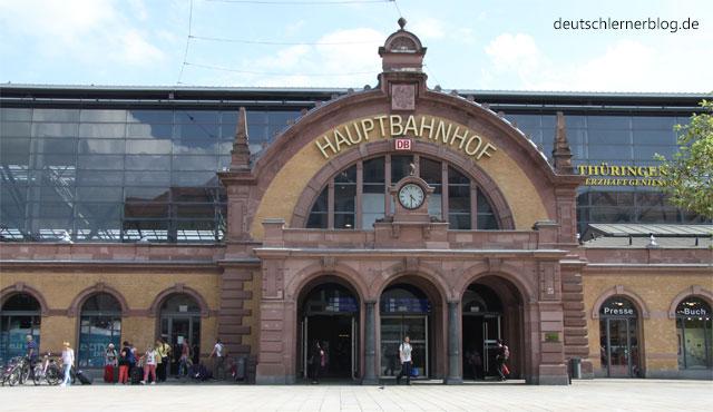 Bahnhof Erfurt - öffentliche Verkehrsmittel - Bahnreisen