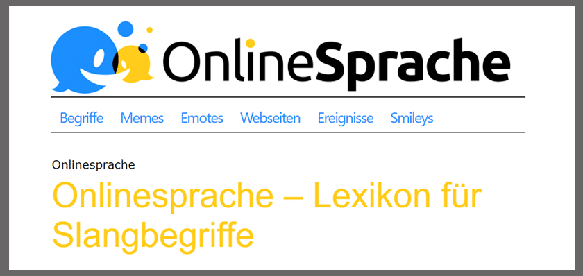 Onlinesprache - Jugendsprache - Lexikon