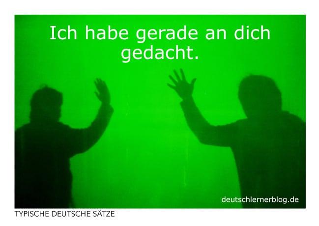 Ich habe gerade an dich gedacht - Postkarten kostenlos- typische deutsche Sätze - Deutsch lernen