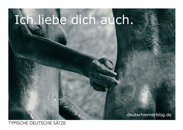 Ich liebe dich auch - kostenlose Postkarten - typische deutsche Sätze - Deutsch lernen