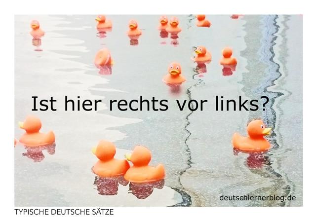 Ist hier rechts vor links? - gratis Postkarten - typische deutsche Sätze - Deutsch lernen