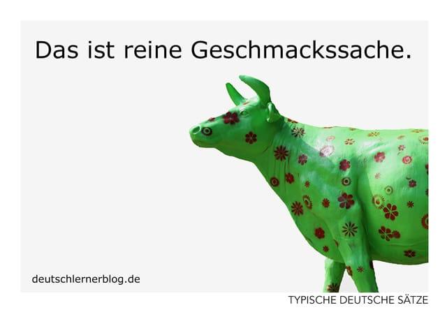 Das ist reine Geschmackssache - Postkarten - typische deutsche Sätze - Deutsch lernen
