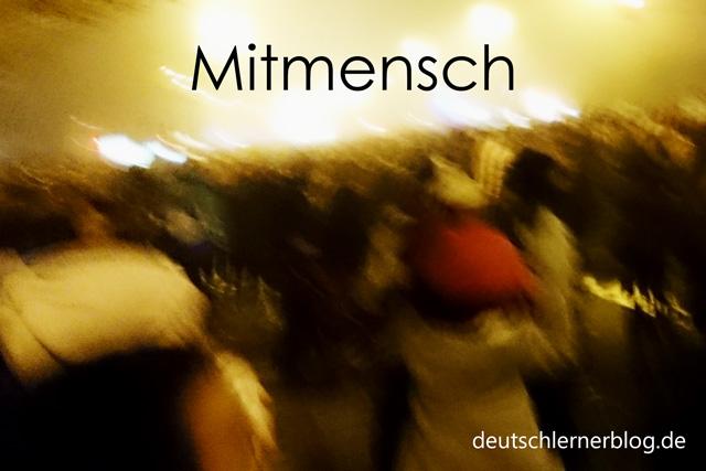 Mitmensch - schöne deutsche Wörter mit Bildern