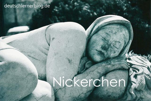 Nickerchen - schöne deutsche Wörter mit Bildern