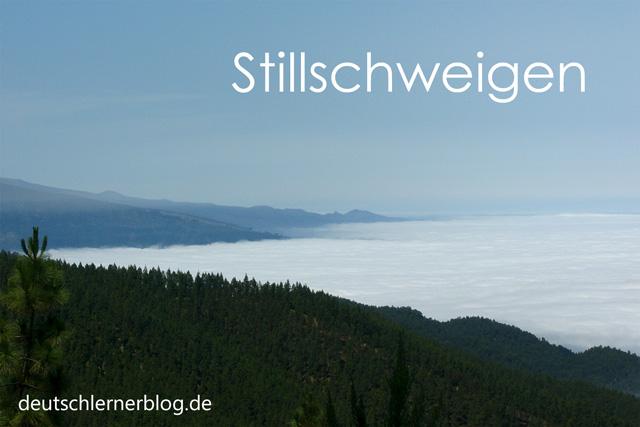 Stillschweigen - schöne deutsche Wörter mit Bildern