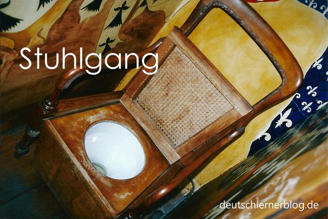 Stuhlgang - schöne deutsche Wörter mit Bildern