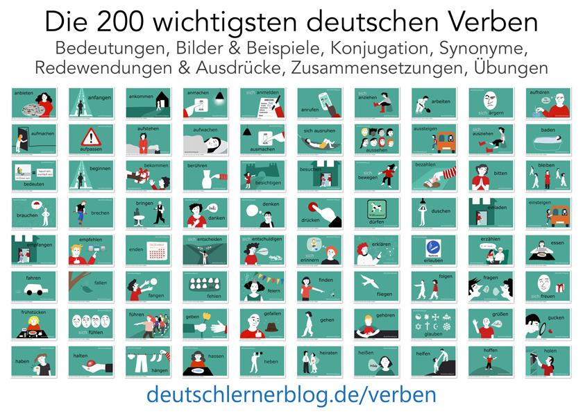 deutsche Verben - wichtige Verben