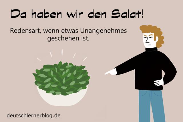 Da haben wir den Salat - Redewendungen mit Bildern