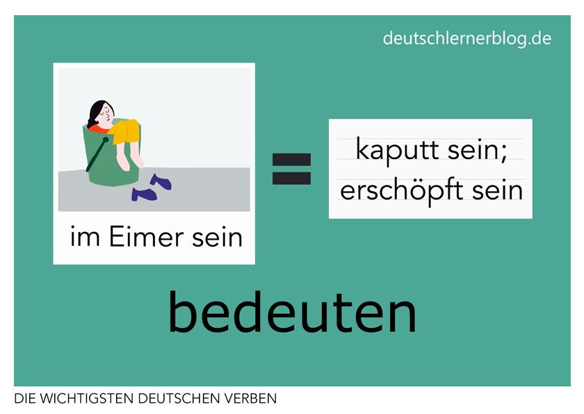 bedeuten - illustrierte Verben