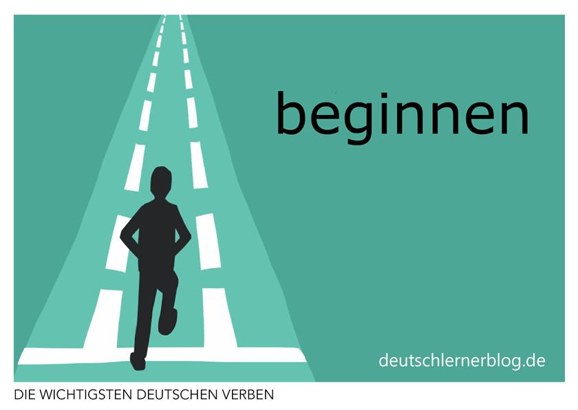 beginnen - illustrierte Verben