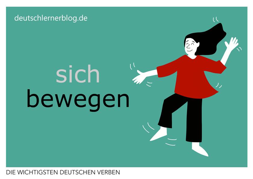 bewegen - illustrierte Verben